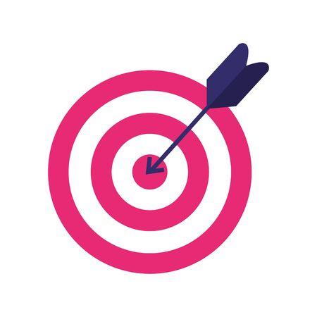 Target design, Solution success strategy idea problem innovation and creativity theme Vector illustration 向量圖像