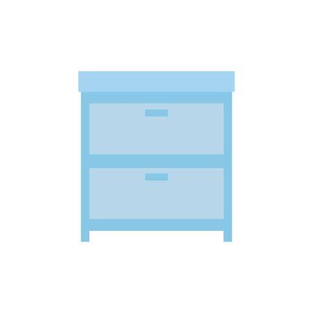 Furniture design, Home room decoration interior modern house and decor theme Vector illustration Ilustracja