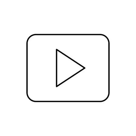 button play symbol line style icon vector illustration design Foto de archivo - 135691726