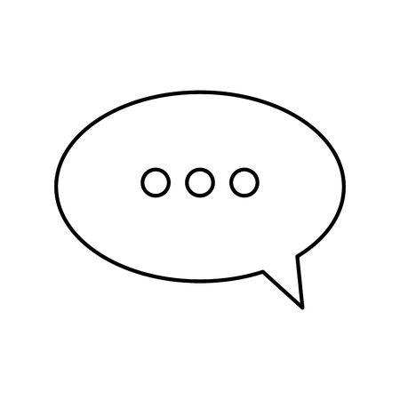 Sprechblase Linienstil Symbol Vektor Illustration Design