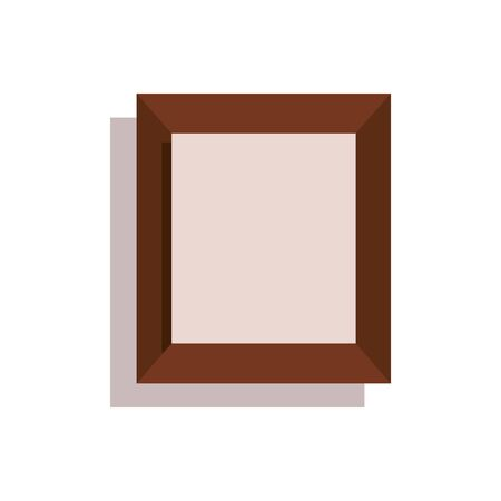 wooden portrait picture isolated icon vector illustration design Banque d'images - 135698875
