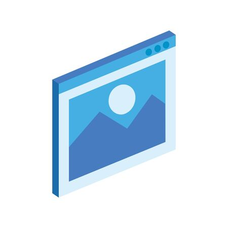 picture file symbol isolated icon vector illustration design 向量圖像