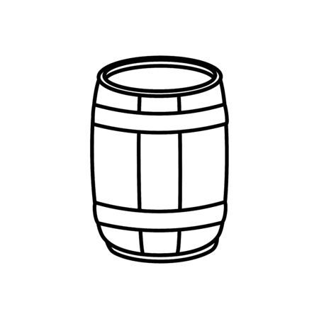 Beer barrel design, Pub alcohol bar brewery drink ale and lager theme Vector illustration