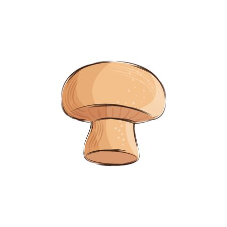 mushroom fresh vegetable isolated icon vector illustration design