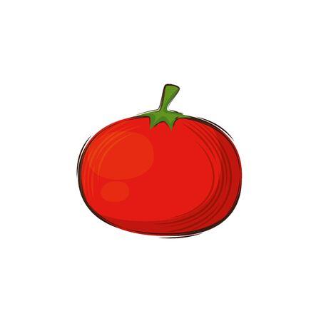 tomato fresh vegetable isolated icon vector illustration design Illustration