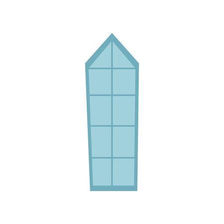 window of castle fairytale isolated icon vector illustration design
