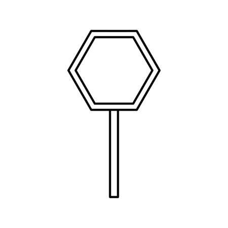 stick signage alert line style icon vector illustration design