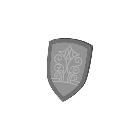 fairytale knight shield fantastic isolated icon vector illustration design