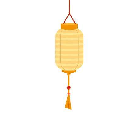 chinese decorative lamp hanging icon vector illustration design  イラスト・ベクター素材