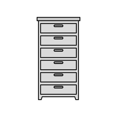 wooden drawer forniture isolated icon vector illustration design Stockfoto - 135820322