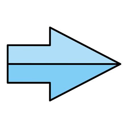 arrow index direction isolated icon vector illustration design Illustration