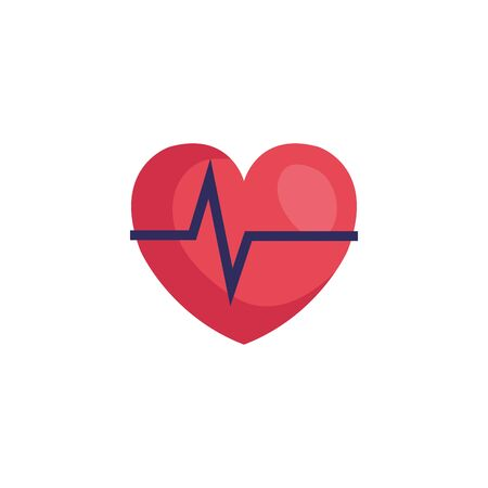 heart rate pulse isolated icon vector illustration design