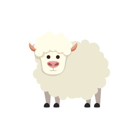 cute little sheep animal farm vector illustration design Banque d'images - 135836517