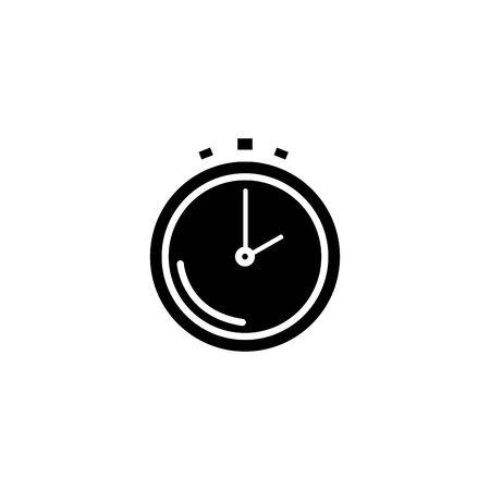 silhouette of chronometer time equipment isolated icon vector illustration design Illustration