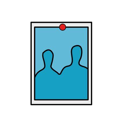 Fotografía con diseño de ilustración de vector de icono de pin