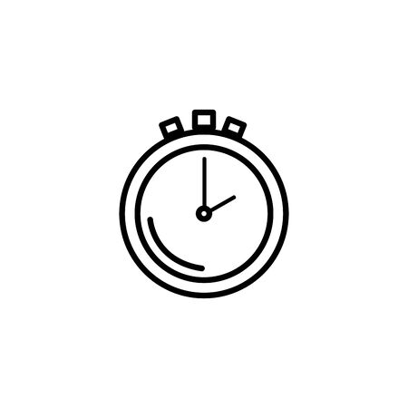 chronometer time equipment line style icon vector illustration design Illustration