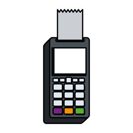 voucher machine electronic commerce icon vector illustration design