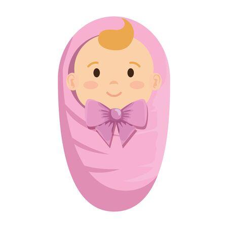 cute little baby girl character vector illustration design Standard-Bild - 135928746