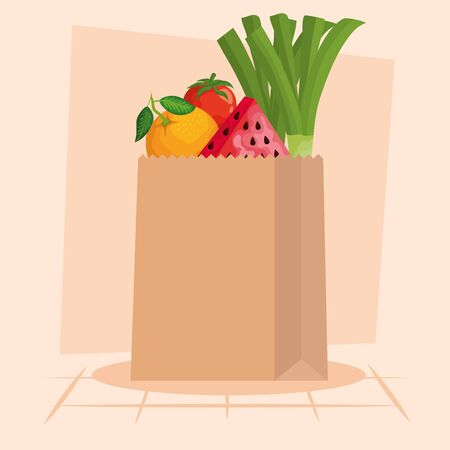 Shopping bag design, Store shop market commerce retail buy and paying theme Vector illustration