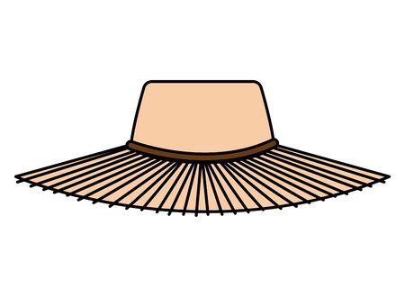 summer straw hat accessory icon vector illustration design Vetores