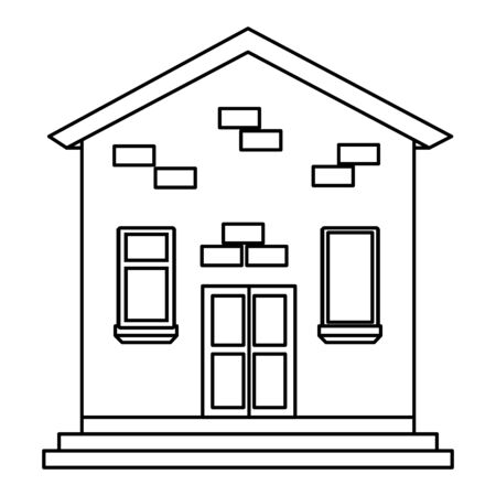 house building facade isolated icon vector illustration design Ilustracja