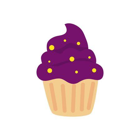 halloween cupcake delicious isolated icon vector illustration design