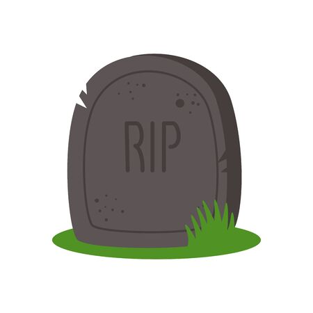 halloween tomb of cemetery isolated icon vector illustration design Stockfoto - 136046398