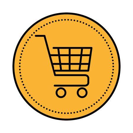 shopping cart commercial isolated icon vector illustration design Archivio Fotografico - 136060608