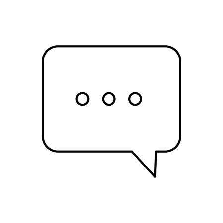 Communication bubble icon design, Message discussion conversation talk and technology Vector illustration Ilustração