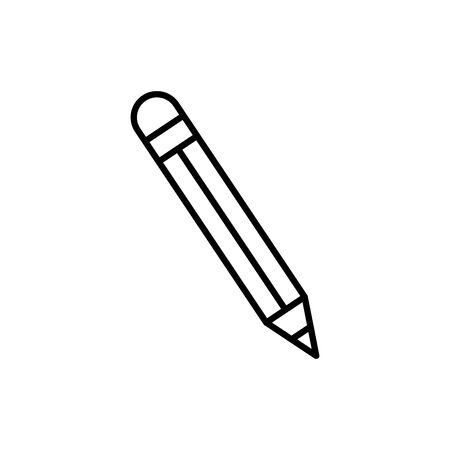 Pencil design, Tool write office object instrument equipment and draw theme Vector illustration 스톡 콘텐츠 - 136080281