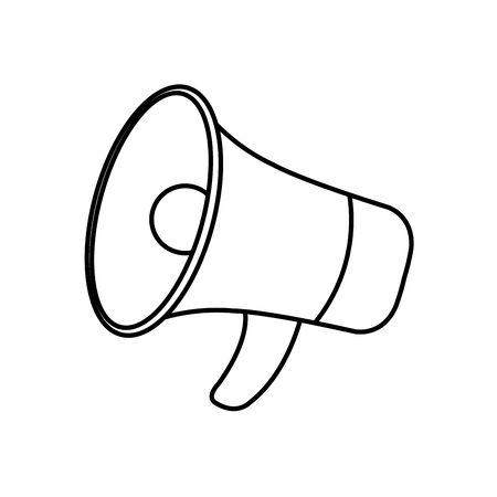 Megaphone icon design, Amplifer speaker bullhorn announce speech message communication and sound theme Vector illustration