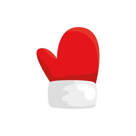 glove of christmas isolated icon vector illustration design