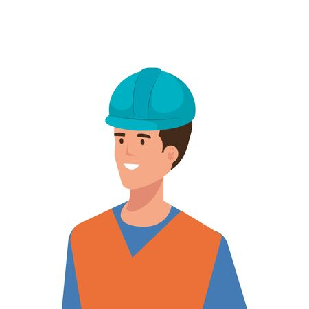 Builder man design, Construction work repair reconstruction industry build and project theme Vector illustration