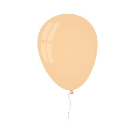 balloon helium decoration isolated icon vector illustration design  イラスト・ベクター素材