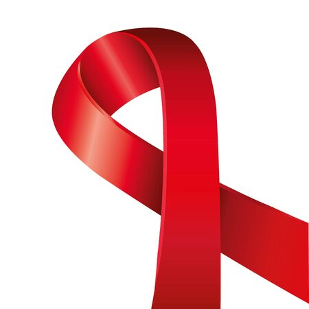 aids day awareness ribbon isolated icon vector illustration design