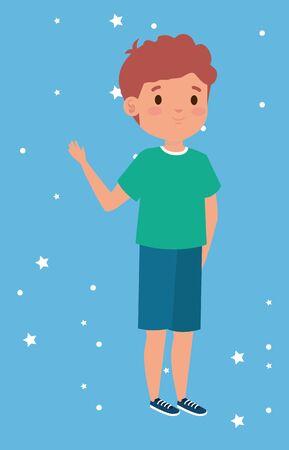 cute little boy avatar character vector illustration design