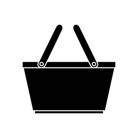 silhouette of basket wicker picnic isolated icon vector illustration design  イラスト・ベクター素材