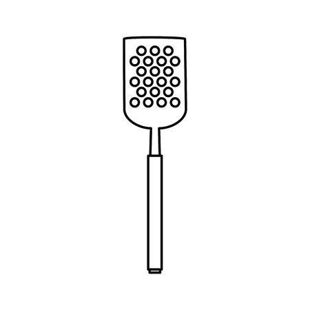 spatula barbecue cutlery tool line style icon vector illustration design 向量圖像
