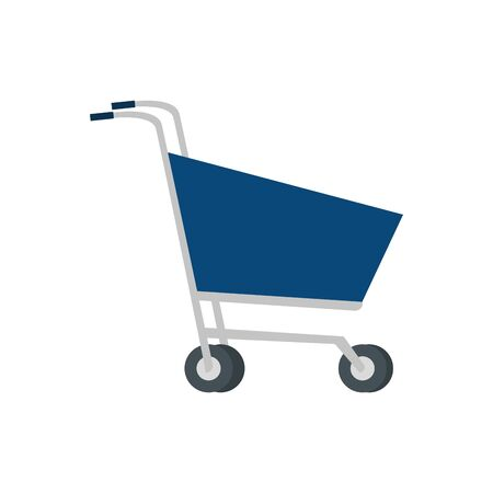 Shopping cart design, Store shop market commerce retail buy and paying theme Vector illustration