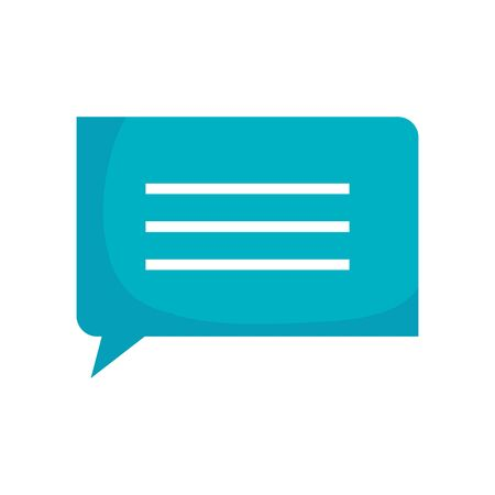 speech bubble symbol isolated icon vector illustration design Çizim