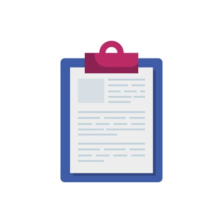 clipboard with paper document isolated icon vector illustration design 向量圖像
