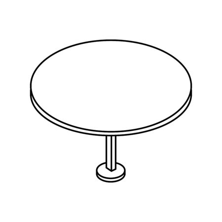 table round furniture line style icon vector illustration design