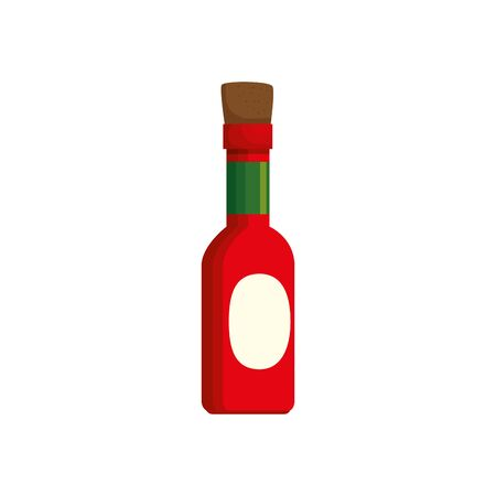 delicious sauce in bottle isolated icon vector illustration design 向量圖像