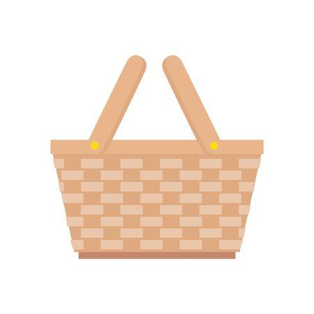 basket wicker picnic isolated icon vector illustration design Illusztráció
