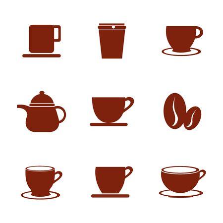 bundle coffee of set icons vector illustration design