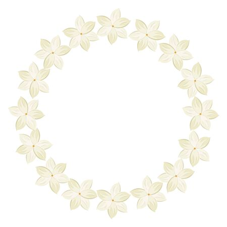 frame circular of flowers isolated icon vector illustration design  イラスト・ベクター素材