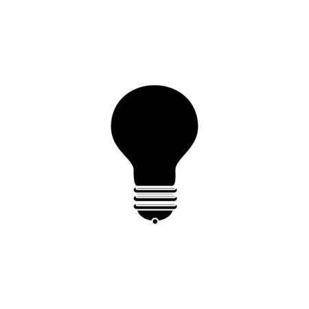 silhouette of light bulb idea isolated icon vector illustration design Ilustração