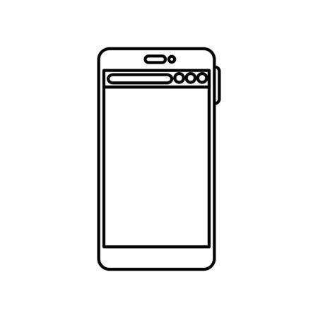 Smartphone icon design, Digital technology communication social media internet web and cellular theme Vector illustration