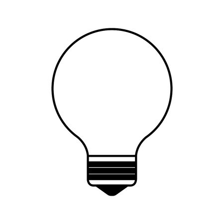 bulb light think idea icon vector illustration design Ilustração