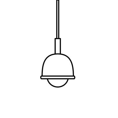 lamp light hanging isolated icon vector illustration design Archivio Fotografico - 136315469